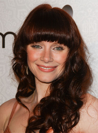Swell Long Curly Hairstyles With Bangs Beauty Riot Hairstyles For Women Draintrainus