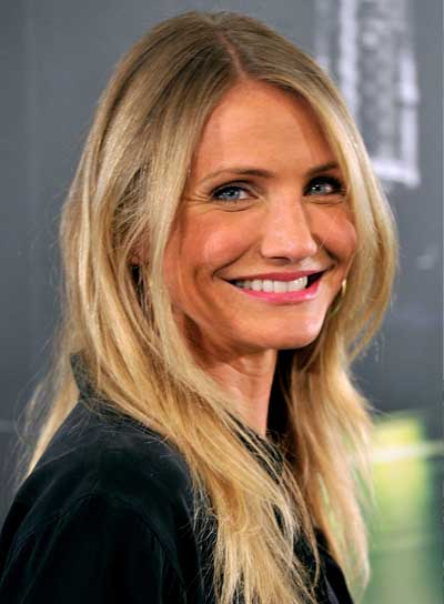 Cameron Diaz Long, Straight, Tousled, Blonde Hairstyle