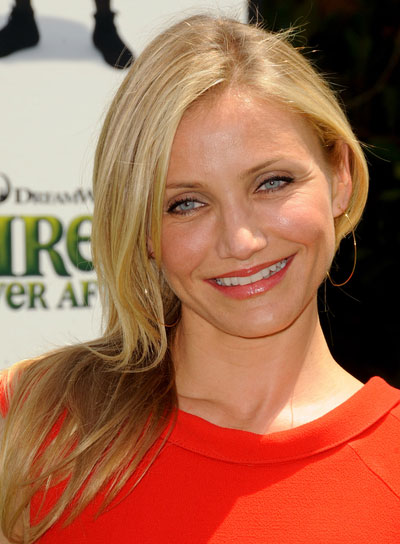 Cameron Diaz Medium, Straight, Blonde Hairstyle