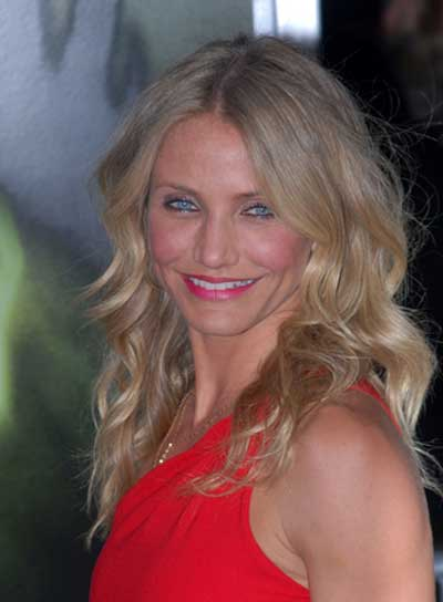 Cameron Diaz Medium, Wavy, Sexy, Blonde Hairstyle