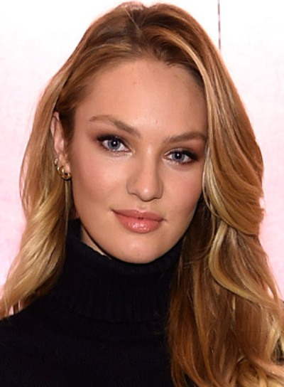 Candice Swanepoel with a Long, Blonde, Tousled, Romantic Hairstyle Pictures