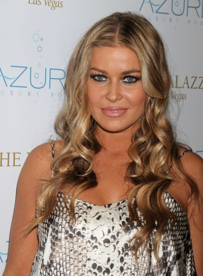 Carmen Electra Long, Curly, Blonde Hairstyle