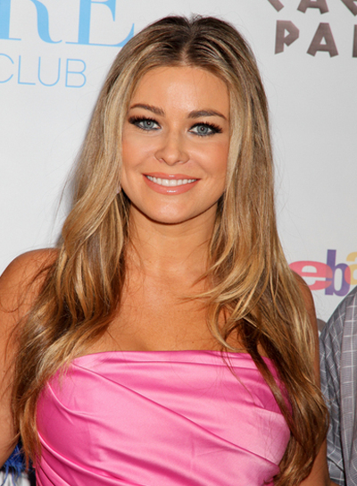 Carmen Electra Long, Layered, Blonde Hairstyle