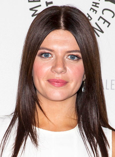 Casey Wilson's Long, Chic, Straight, Brunette, Hairstyle