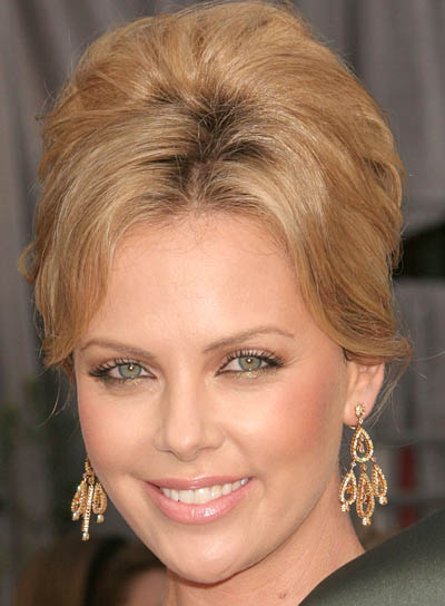 Charlize Theron's Blonde, Formal Updo