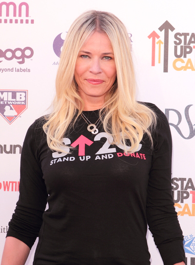Chelsea Handler's Long, Tousled, Wavy, Blonde Hairstyle