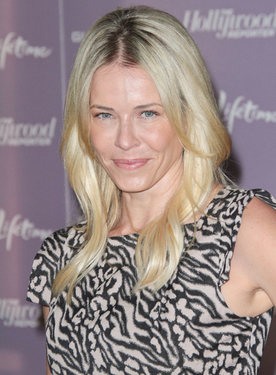 Chelsea Handler Medium, Sophisticated, Blonde Hairstyle