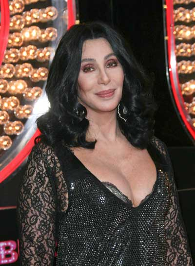 Cher Medium, Black, Curly Hairstyle