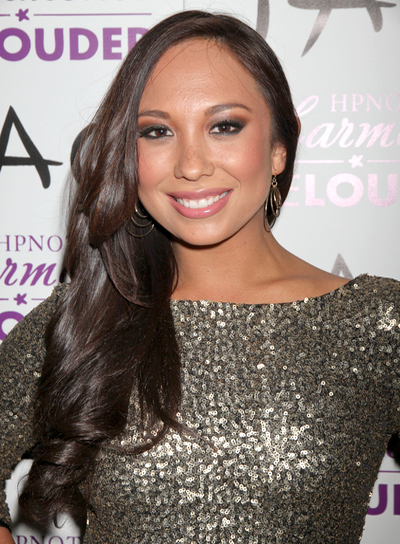 Cheryl Burke Long, Chic, Party, Brunette Hairstyle