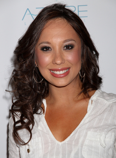 Cheryl Burke Long, Curly, Brunette Hairstyle