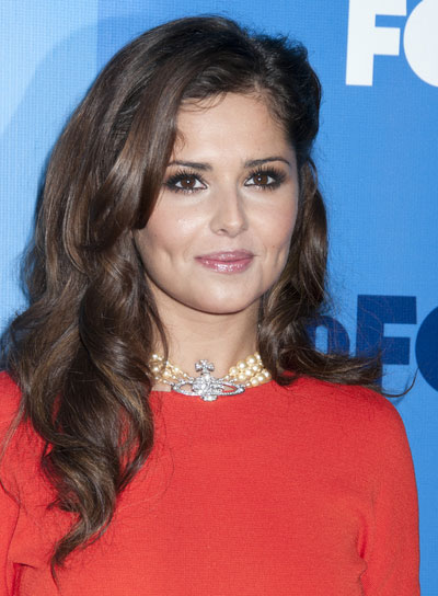 Cheryl Cole Long, Curly, Brunette Hairstyle