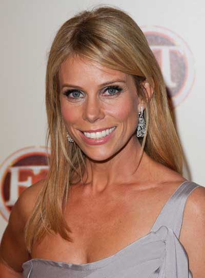 Cheryl Hines Long, Straight, Blonde Hairstyle
