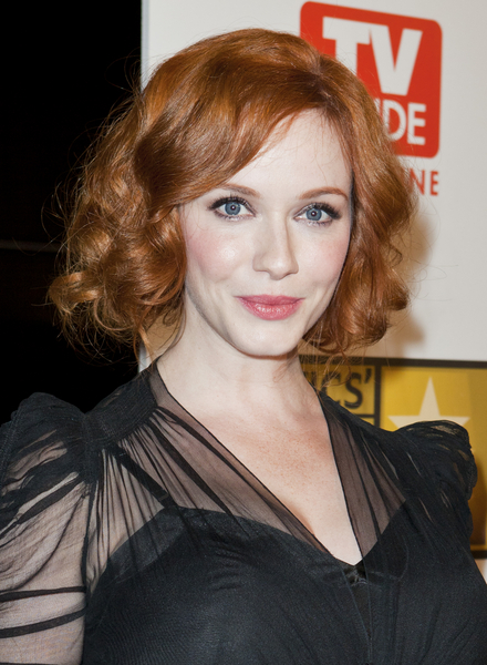Christina Hendricks' Short, Romantic, Curly, Red Hairstyle