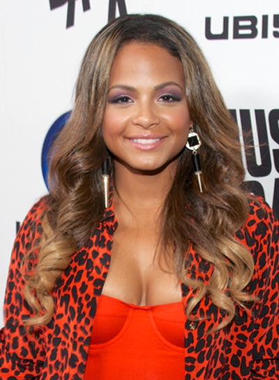 Christina Milian's Long, Brunette, Edgy, Wavy Hairstyle