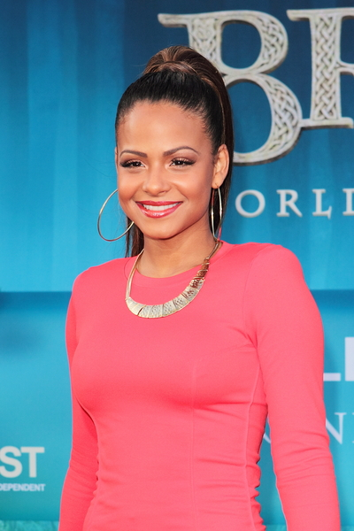 Christina Milian's Long, Chic, Sophisticated, Ponytail Hairstyle