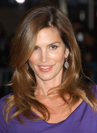 Cindy Crawford Sexy, Tousled, Brunette Hairstyle