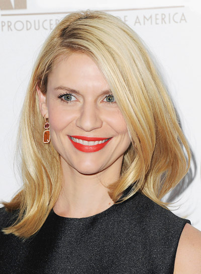 Claire Danes with a Straight, Medium, Blonde, Sophisticated Hairstyle Pictures