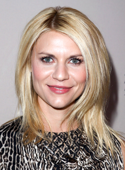 Claire Danes' Medium, Layered, Edgy, Party Hairstyle