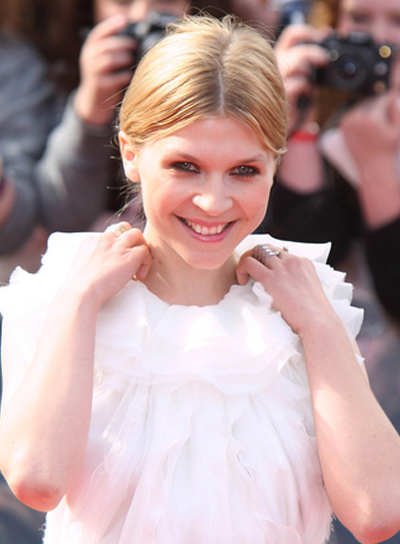 Clemence Poesy Long, Straight, Sophisticated, Blonde Hairstyle