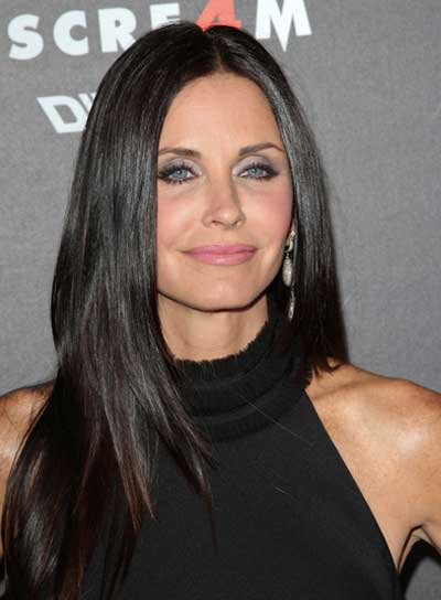 Courteney Cox-Arquette Long, Straight, Layered Hairstyle