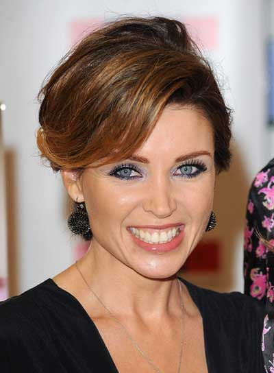 Dannii Minogue Chic, Brunette Updo With Highlights