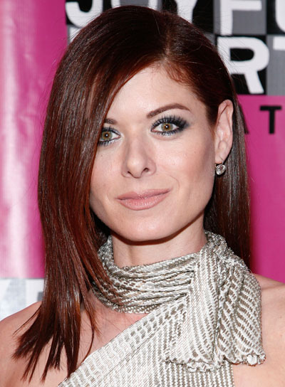 Debra Messing Medium, Straight, Red Hairstyle