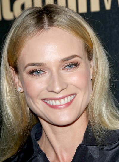 Diane Kruger's Long, Blonde, Straight, Chic, Hairstyle