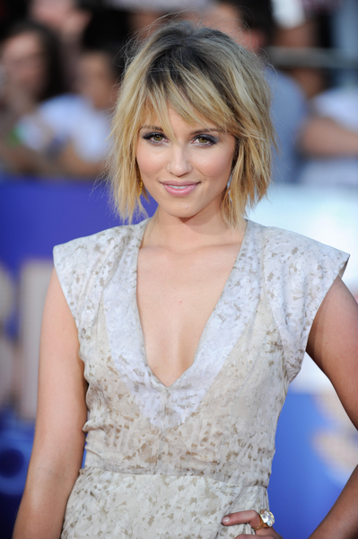 Dianna Agron Short, Layered, Bob with Bangs