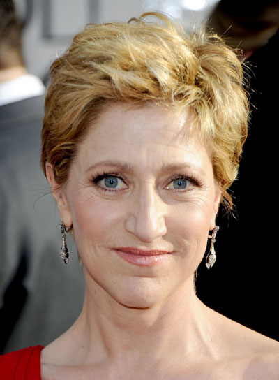 Edie Falco Short, Tousled, Blonde Bob