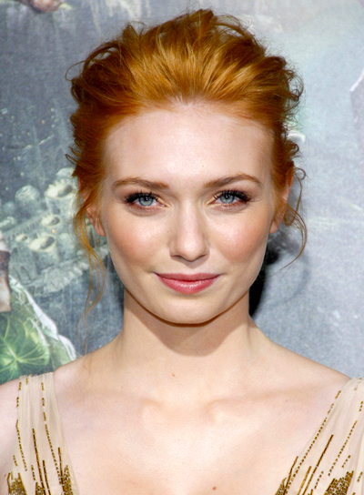Eleanor Tomlinson's Red, Tousled, Romantic, Updo