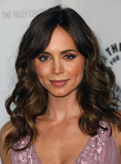 Eliza Dushku Curly, Romantic, Brunette Hairstyle