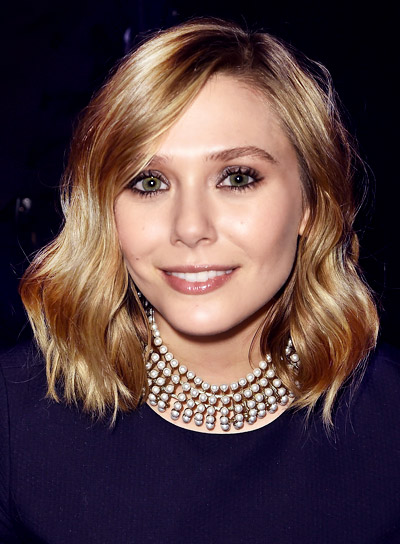 Elizabeth Olsen with a Medium, Blonde, Sexy, Tousled Hairstyle Pictures