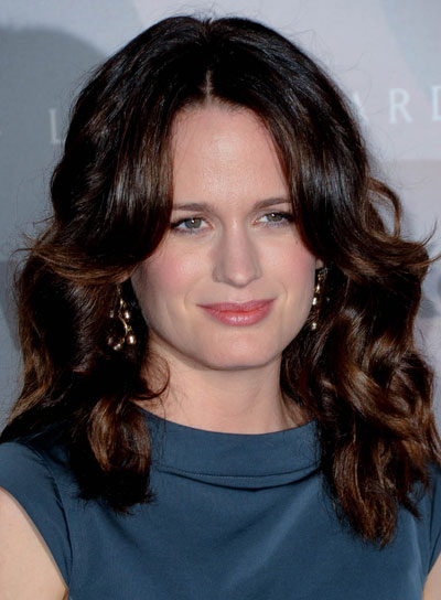 Elizabeth Reaser Medium, Curly, Brunette Hairstyle