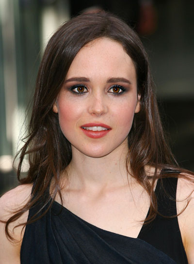 Ellen Page Tousled, Brunette Hairstyle
