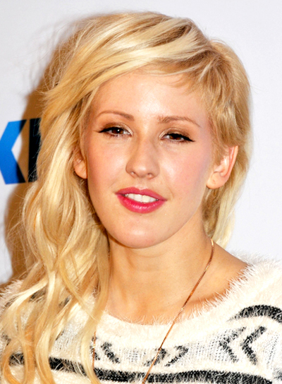 Ellie Goulding's Long, Edgy, Blonde, Wavy Hairstyle