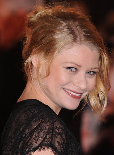 Emilie de Ravin Blonde, Wavy, Tousled Updo