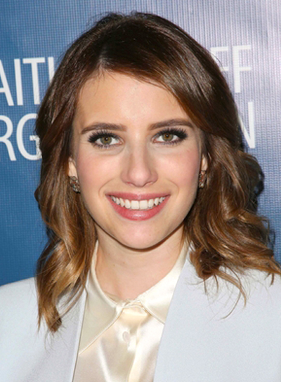 Emma Roberts' Chic, Wavy, Romantic, Brunette Hairstyle