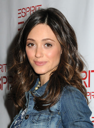 Emmy Rossum Tousled, Wavy Hairstyle