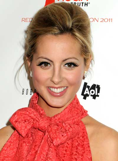 Eva Amurri's Blonde, Tousled, Sophisticated Updo with Highlights