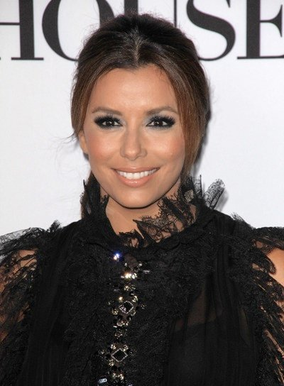 Eva Longoria Sophisticated, Brunette Updo
