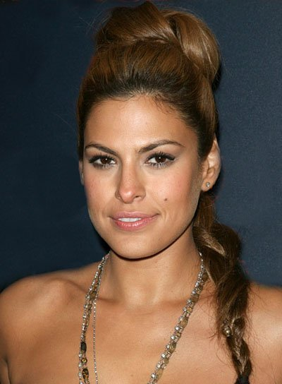 Eva Mendes Braided, Funky Updo