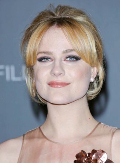 Evan Rachel Wood's Blonde, Sophisticated, Party, Updo, Hairstyle