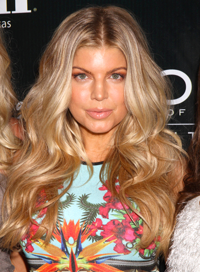 Fergie's Long, Wavy, Romantic, Sexy Hairstyle