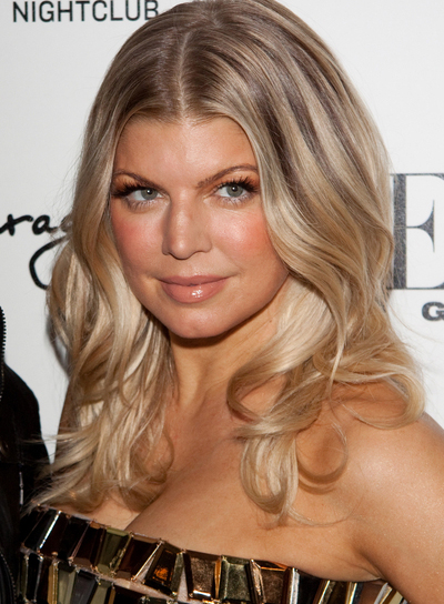 Fergie Medium, Sophisticated, Party, Blonde Hairstyle with Highlights