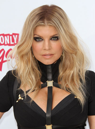 Fergie Blonde, Sexy, Edgy, Party Hairstyle
