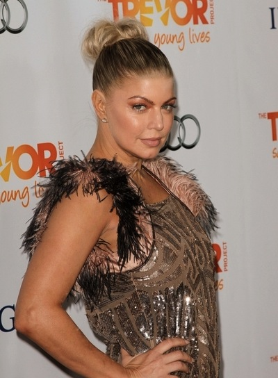 Fergie Chic, Edgy, Funky, Blonde Updo