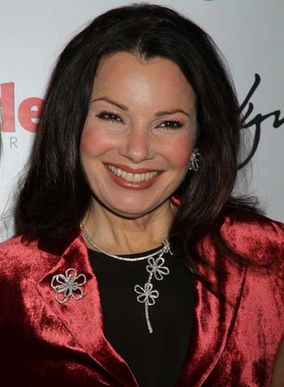 Fran Drescher Sophisticated, Straight, Black Hairstyle