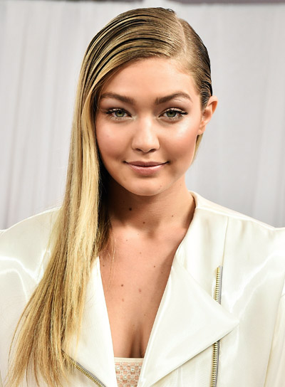 Gigi Hadid's Long, Blonde, Straight, Edgy Hairstyle