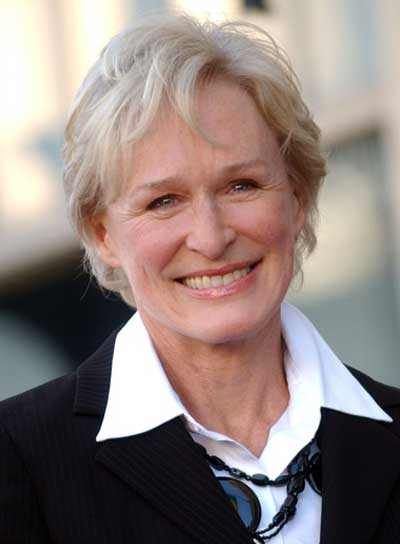 Glenn Close Short, Blonde, Tousled Hairstyle