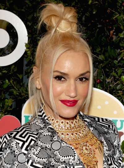 Gwen Stefani Chic, Blonde, Edgy, Party Updo